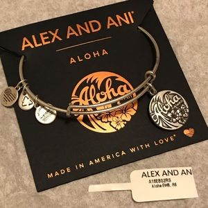 Alex and Ani Silver Aloha Hawaii Bracelet